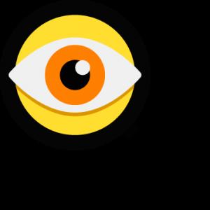 Vergrootglas met oog